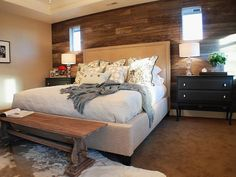 Comfy Rustic-Style Bedroom. Find Your Style --> http://www.hgtv.com/designers-portfolio/room/traditional/outdoors/6941/index.html#/id-9237/room-bedrooms?soc=pinterest