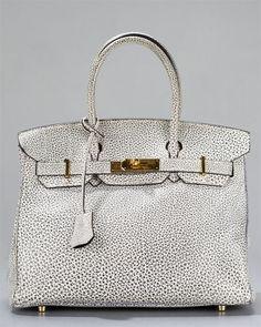 e557d62d05a Hermes Rare Dalmatian Buffalo Leather Birkin GHW (Pre-Owned)