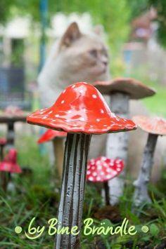 Porta Photos Sheet Ceramics Fairy-Mushroom