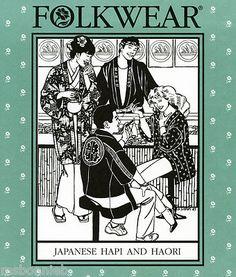 Folkwear Japanese Hapi Shopcoat, Haori Jacket & Tabi Sox Sewing Pattern #129