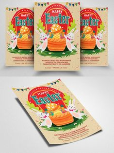 Butterfly Design, Business Flyer, Happy Easter, Templates, Poster, Free, Color, Happy Easter Day, Stencils
