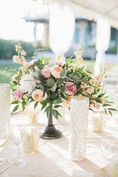 Gorgeous: http://www.stylemepretty.com/little-black-book-blog/2015/02/27/blush-gold-rosemary-beach-wedding/   Photography: Leslie Hollingsworth - http://www.leslie-hollingsworth.com/
