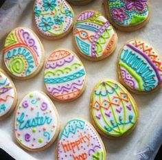 Custom Assorted Easter Egg Cookies 1 dozen Gift by MoMsterCookies Easter Cookies, Easter Treats, Sugar Cookies, Easter Biscuits, Cookie Frosting, How To Make Cookies, Decorated Cookies, Cupcakes, Cake Designs