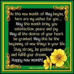 140 best months images on pinterest julias creations happy new month may m4hsunfo