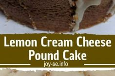 Lemon Cream Cheese Pound Cake is a dense, tight-crumbed, yet light pound cake. The recipe doesn't call for any baking powder or soda.