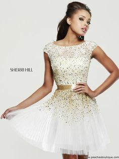 Sherri Hill Short Homecoming Dress 2840 at Peaches Boutique