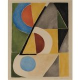 Sonia Delaunay - Compostion, Color etching and... on MutualArt.com