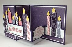 So Little Cake by razldazl - Cards and Paper Crafts at Splitcoaststampers Z Cards, Bday Cards, Step Cards, Birthday Cards For Men, Handmade Birthday Cards, Kids Cards, Greeting Cards Handmade, Fancy Fold Cards, Folded Cards