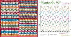 """Puntada """"V"""" crochet"""