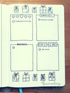 astuces bullet journal idees cadeaux