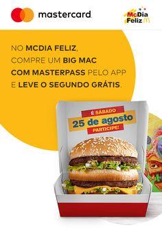 [Masterpass/McDonalds] 1 Bigmac = 2 Bigmacs pelo McDelivery com Masterpass (só 25/08/18) Big Mac, Mcdonalds, 1, Chicken, Ethnic Recipes, Food, Chicken Patties, Ideas, Ethnic Food