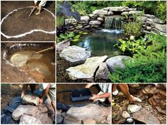 DIY Water Feature Pond Tutorial
