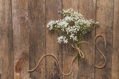 Fundo de madeira com decoração floral Foto gratuita