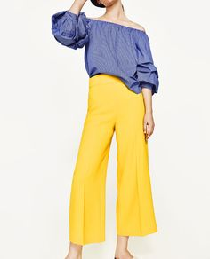 Yellow High Waisted Trousers by Zara | $49.90