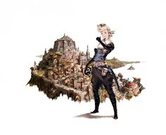 Bravely Default character concept art