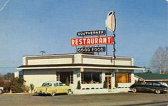 THE SOUTHERNER RESTAURANT  on U.S. 301  Elm City, N.C.    Open 5A.M. to 9:30 P.M. Offering Good Food Promptly and Courteously Served.