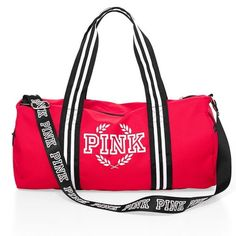 VS DUFFLE BAG BRAND NEW RES VS PINK DUFFLE BAG, PERFECT FOR THE GYM, THE BEACH, WEEKEND GATEWAY? OR JUST TO HAVE. HAS STRAPS FOR SHOULDER AND TO HOLD BY HAND WITH PINK LOGO ON THE STRAPS PINK Victoria's Secret Bags Shoulder Bags