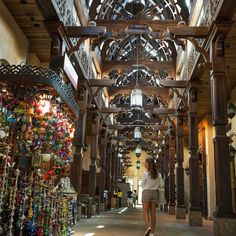 One of my favorite places to shop in Dubai is the Souk Madinat. Souk is the word used to describe a traditional Arab market. The Souk Madinat has the old traditional Arab architecture with a modern flair; you can find some amazing restaurants, coffee shops, souvenirs and so much more -- @chicflavours Check out the colorful hookahs to my left #DTTakeOver