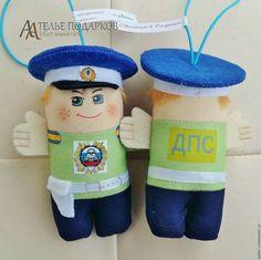 Купить ГАИшник (хвоя) - голубой, полицейский, полиция, ГАИ, гаишник, ДПС, ГИБДД, дорожная полиция