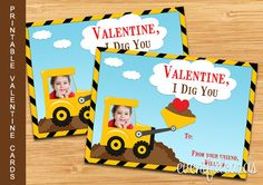 Printable Valentines Day Cards for Kids  by eventfulcards on Etsy, $7.00