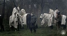 Having a rest near the forest. Templar knights.