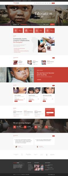 Kindness Wordpress Theme has modern and functional design perfectly suitable for non-profit organizations. The Theme is a best choice for any charity, NGO, donations, foundation, fundraising or governmental social program website Website Design Layout, Wordpress Website Design, Website Design Inspiration, Blog Design, Design Design, Charity Websites, Fundraising Websites, Organization Websites, Donation Website