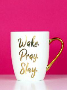 *NEW* mugs :) Wake Pray Slay Mug, Christian Coffee Mug, Christian Home Decor, Christian gifts, Gifts for Christian women