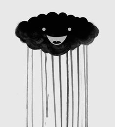 Happy black cloud - i feel a kinship with this little cloud lol