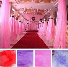 Бесплатная доставка Ширина 75см свадебный фон ткань .. Разнообразие цветов ткани на выбор. фон ткани Оптовая 50м 25.00
