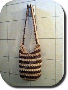 Bolso a crochet. Con bolsas plásticas recicladas. Hay video