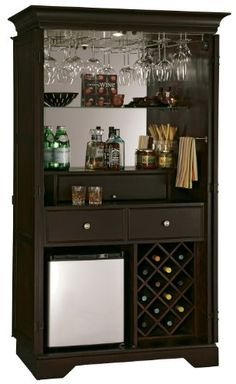 mini bars for home: Howard Miller 695-104 Ty Pennington New York Loft Hide-A-Bar Wine Cabinet Best Price