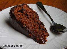 Receta. Tarta de chocolate y zanahoria. Una porción