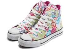 HUE SELECTION OF CONVERSE! Chuck Taylor® All Star Hi Tops Peace And Love $49 SHIPS FREE FROM BEACH HIPPIE: WEBSITE: www.beachhippieinc.net