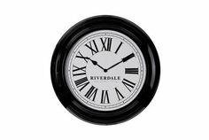 Wandklok Time van Riverdale is een plaatje voor aan de muur. De klok heeft een diameter van 46 cm en is leverbaar in zowel wit als zwart met een witte wijzerplaat. De tijd wordt aangeduid doormiddel van Romeinse cijfers. Wandklok Time is gemaakt van metaal en werkt op één AA batterij. Van €95,- voor €49,95 Riverdale Time, Home Decor, Decoration, Products, Accessories, Decor, Decoration Home, Room Decor, Dekoration