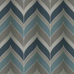 ($60) Gatsby Wallpaper in Blues and Silvery Grey design by York Wallcoverings -60 square feet