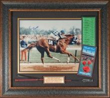 Secreatariat Wins The 1973 Kentucky Derby 16x20 signed By Ron Turcotte