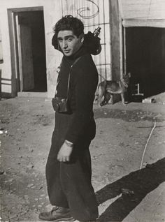 """Robert Capa. """"It's not always easy to stand aside and be unable to do anything except record the sufferings around one."""" . . . """"I hope to stay unemployed as a war photographer till the end of my life"""""""