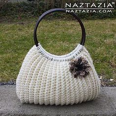 I'm very happy to bring you this free (and pretty easy!) pattern for a crochet Savvy Handbag. This was written for the final issue of Crochet Savvy magazine by Donna Wolfe from Naztazia. - black & white handbags, black and brown purse, buy womens handbags online *sponsored https://www.pinterest.com/purses_handbags/ https://www.pinterest.com/explore/hand-bag/ https://www.pinterest.com/purses_handbags/black-purse/ https://en.wikipedia.org/wiki/Handbag