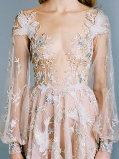 Enjoy this incredibly beautiful collection of wedding dresses and couture gowns from the one and only Paolo Sebastian. Paolo Sebastian, Pretty Dresses, Sexy Dresses, Formal Dresses, Dance Dresses, Prom Dresses, Wedding Dresses, Looks Party, Style Haute Couture