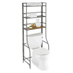 Clean lines and minimal design give our Over-the-Tank Bathroom Étagère the power to stand alone and blend in at the same time. When not in use, the shelves can be folded flat to accommodate moving and tight storage spaces.