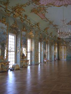 Ballroom Schloss Charlottenburg Palace (Carlota), Berlin.