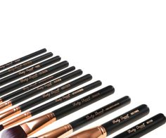 Amazon.com : Party Queen Unique Design 12Pcs Makeup Brush Set Silky Density Synthetic Bristles Cosmetic Kit + Luxurious Coffee Leather Case Guaranteed Quality for Flawless Beauty(Rose Golden) : Beauty