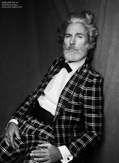 Men; Men Style; Plaid; Suits; Black and White Photography