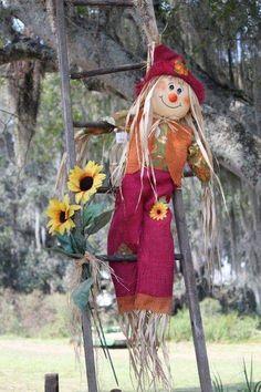 Make A Scarecrow, Halloween Scarecrow, Holidays Halloween, Halloween Decorations, Scarecrow Ideas, Scarecrows For Garden, Scarecrow Festival, Autumn Garden, Fall Wreaths