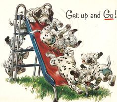 Vintage ad for Texaco features adorable Dalmation by DadsOldAds, $3.99