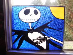 For Christmas, I made my son a stained glass Jack Skellington by rdiss ...