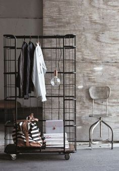 29 Stunning Industrial Style Decor Ideas That You Can Create For Your Urban Living Space Industrial Wall Decor Design No. Vintage Industrial Furniture, Industrial House, Industrial Interiors, Industrial Chic, Vintage Home Decor, Industrial Design, Industrial Closet, Vintage Style, Industrial Industry