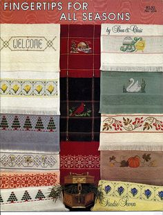 Fingertips For All Seasons / Counted Cross Stitch Pattern Leaflet Studio Seven No 234 by grammysyarngarden on Etsy