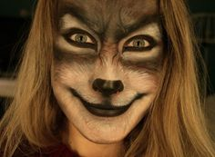 For the bad wolf character Awesome wolf face paint. Halloween Meninas, Makeup Fx, Freaky Makeup, Nose Makeup, Makeup Geek, Makeup Ideas, Halloween Make Up, Halloween Face Makeup, Mononoke Cosplay