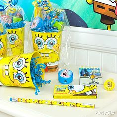 Fill up reusable SpongeBob Party Cups with treats that will make all of Bikini Bottom smile!